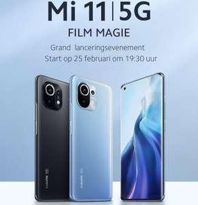 Xiaomi Mi 11 Evenement   150€ coupon voor volgende Ankoop, Gratis Mi Band 5 + Earbuds Basic 2 & 1 jaar Displaygarantie