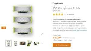 Philips One Blade mesjes met 40% korting