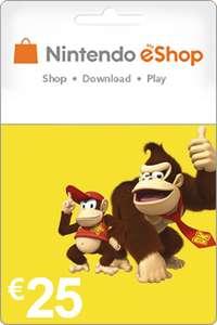 25 euro Nintendo eShop tegoed voor 20,95 @ Livekaarten