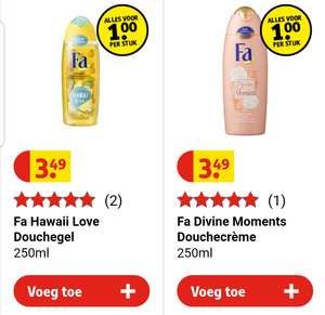Fa Deoderant en douche voor €1 per stuk @ Kruidvat