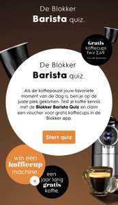 Voucher voor Gratis 20 koffiecups t.w.v. €2,49 [o.a. voor Nespresso] @ Blokker