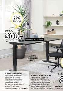 Verstelbaar bureau Jysk (Elektrisch, 80x160)