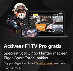 Gratis F1 TV Pro voor Ziggo klanten met Sport Totaal Pakket