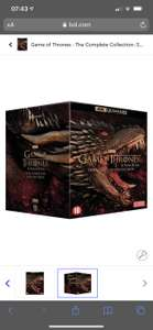 Game of Thrones, the complete collection 4K Blu-ray