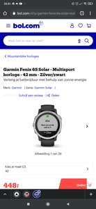 Garmin Fenix 6S Solar - Multisport horloge - 42 mm - Zilver/zwart - zowel bij Bol.com als Amazon.nl