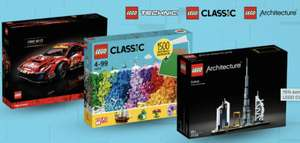 15% extra keuzekorting op LEGO Technic, LEGO Classic en LEGO Architecture