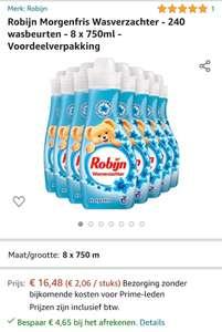 Robijn Morgenfris wasverzachter met € 4,65 korting