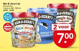 Deen supermarkt: Ben & Jerry's 2 voor €7,-