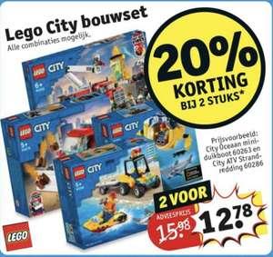Kruidvat Lego City 20% korting bij aanschaf van 2 stuks