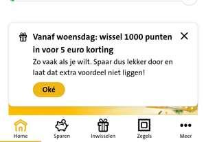 Jumbo Extra's: Wissel (onbeperkt) 1000 punten in voor €5 korting @ Jumbo