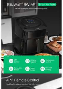 BlitzWolf®BW-AF1 Smart Air Fryer with APP 6L
