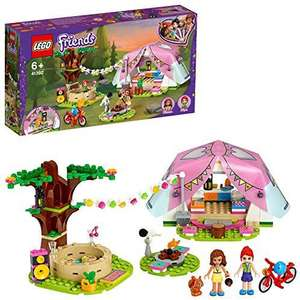 LEGO Friends Glamping in nature 41392 construction kit including LEGO Friends Mia, a mini-doll tent and a toy bike (241 parts)