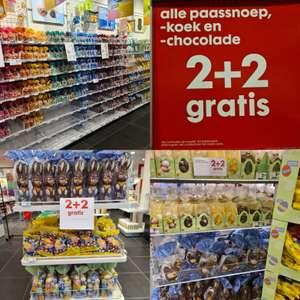 2 + 2 gratis alle paassnoep, koek en chocolade