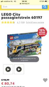Lego City trein 60197 alleen in de winkel