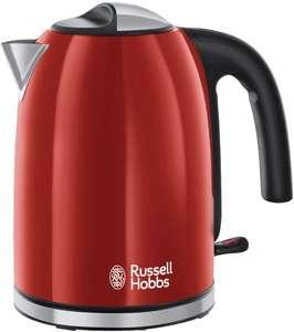 Russell Hobbs Colours Plus+ Flame Red Waterkoker Rood (1,7L), Snelkookfunctie, Zuinig, 2400 Watt, RVS, Hoogglans