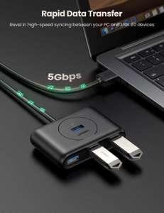 UGREEN USB 3.0 hub met 4 poorten voor €8,99 met code @ Amazon NL