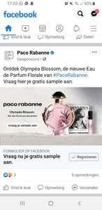 Gratis sample: Paco Rabanne olympea blossom