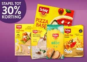 Deze week bij Holland en Barret stapelkorting tot 30% korting op Schär glutenvrije producten