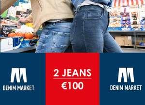 Jeans Centre Denim Market - 2 jeans 100 (Dames en/of Heren)