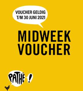 Pathé Midweek E-voucher Van €11,- voor €7,- + 1 volle spaarkaart.