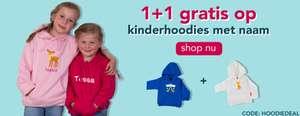 Kinderhoodie met naam 1+1 gratis