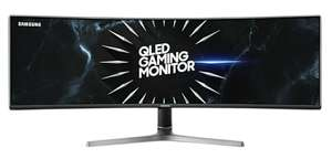 "Samsung QLED C49RG90SSR (49"" curved ultrawide, 120Hz, 4ms, 5120x1440, FreeSync premium"