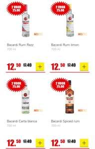 DIRK Bacardi Rum Carta Blanca, Razz, Spiced of Limon. 2 voor 25 euro