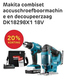 Makita combiset accuschroefboormachine en decoupeerzaag DK18298X1 18V