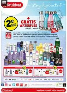 Gratis waterfles t.w.v. € 5,99 en tweede halve prijs bij Kruidvat
