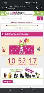 Alleen vandaag 10% korting bij Kabelshop.nl
