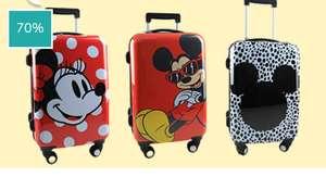 Set van 3 Disney trolleys/koffers Minnie/Mickey Mouse met cijferslot