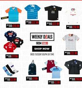 Wekelijkse aanbiedingen van voetbalshirts - classicfootballshirts.co.uk