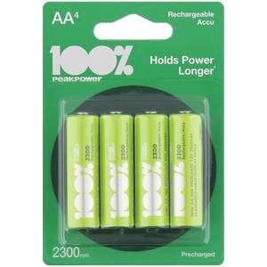 4 oplaadbare batterijen @Action