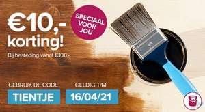 Verfwinkel.nl €10,- korting op je bestellingbij besteding vanaf€100,-