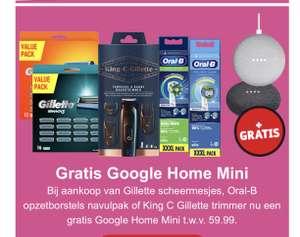 Gratis Google home mini bij scheer/poets producten