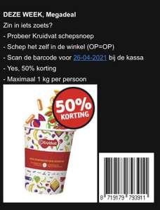 50% korting op schepsnoep bij Kruidvat