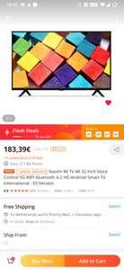 [234,16€ 17% OFF]Xiaomi Mi TV 4A 32 Inch Voice Control 5G WIFI bluetooth 4.2 HD Android Smart TV International - ES Version
