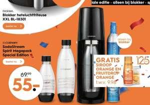 SodaStream Toestel - Spirit Mega Pack met gratis twee flesjes siroop.