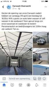 Lokaal Utrecht. Opening wasstraat, gratis autowassen.