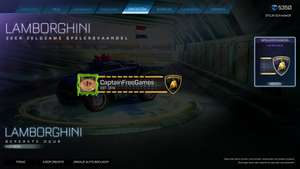 Gratis Lamborghini Player Banner Rocket league
