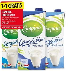 Campina langlekker melk 1+1 bij Jan Linders