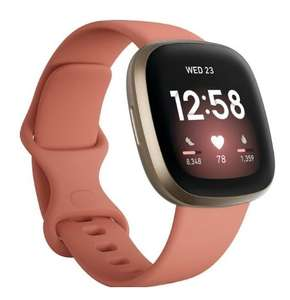 Fitbit Versa 3 Smartwatch zwart/ roze/ blauw bij Bol.com