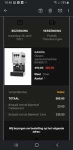 Gaggia Classic Pro zilver Espressomachine , met extra korting zelfs 355 euro