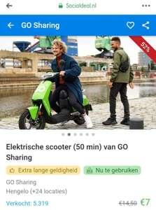 Go sharing deelscooters korting voor alle locaties