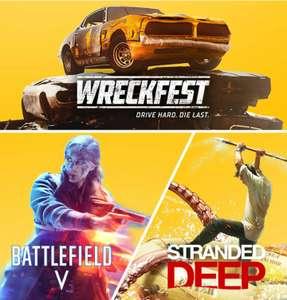 PlayStation Plus games van mei 2021 (Battlefield V, Stranded Deep, and Wreckfest)