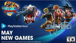 Playstation now update mei: Streets of Rage 4, Nioh, Jump Force