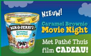New york pizza. Ben and Jerry's Caramel Brownie movie night met pathe thuis film cadeau