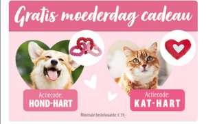 Gratis kat of honden speeltje bij een minimale bestelwaarde van €39