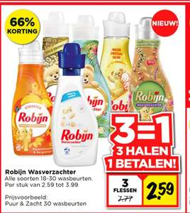 Robijn wasverzachter, 3 halen, 1 betalen @ Vomar