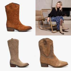 Nu va €44,99: suède western boots €20 - €25 korting + €5 extra [va €50] · 17 modellen ·
